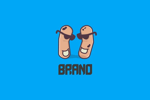 dancing peanuts logo logo templates creative market