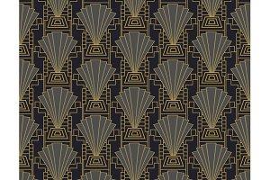 Art Deco style seamless pattern