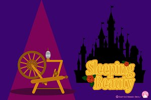 Digital Clipart Sleeping Beauty