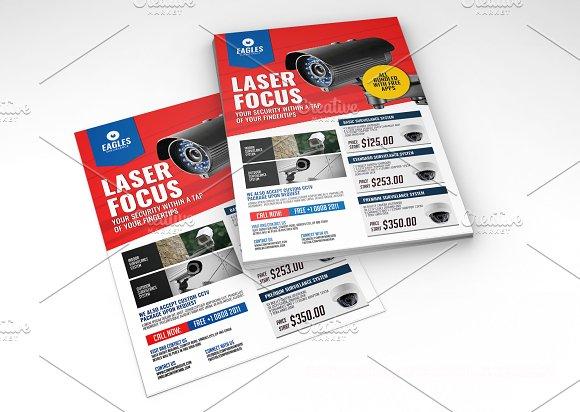 Cctv Flyer Design Template Flyer Templates Creative Market