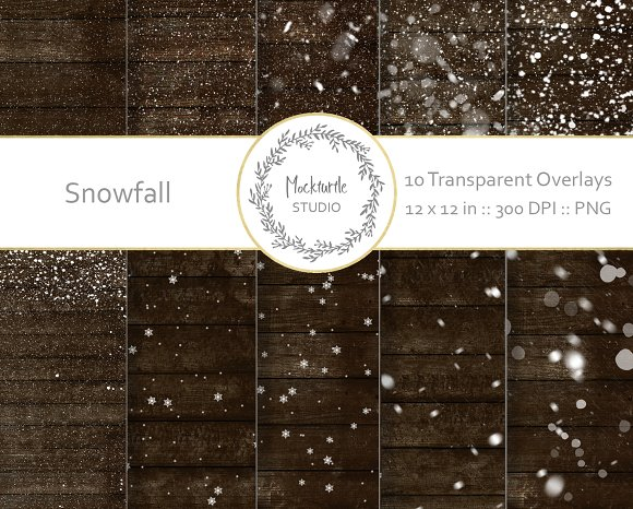 snow digital overlays add ons creative market