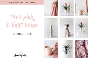 Pale Pink & Soft Beige Photo Pack