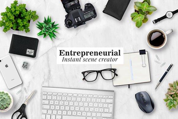 Download Entrepreneurial scene creator mockup