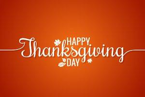 Thanksgiving Line Vintage Lettering