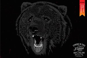 GRIZZLY BEAR - Vector illustration