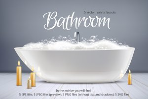 Sale! Bathroom Realistic Set
