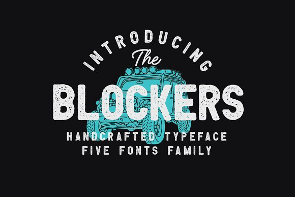 Blockers 5 Font Family 30%OFF