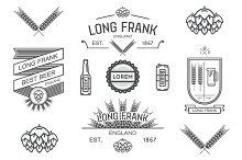 Vector labels of brewery.