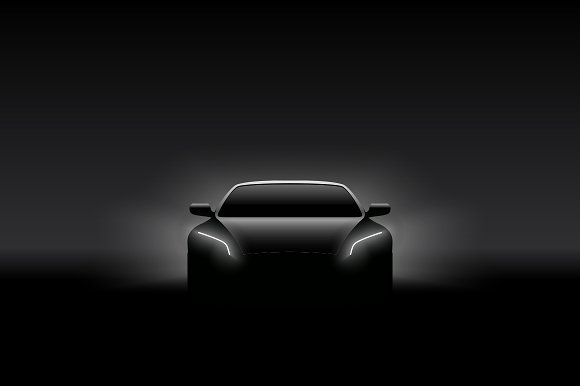 Front View Concept Car Silhouette Illustrations Creative Market
