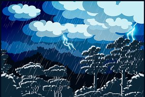 Thunderstorm Forest