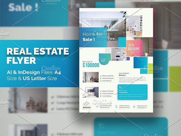 Real Estate Flyer -Graphicriver中文最全的素材分享平台
