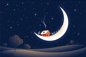 Christmas Moonlit Night