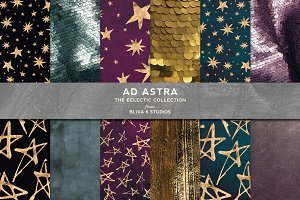 Ad Astra: Golden Hand Drawn Stars
