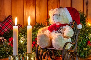Teddy bear & Christmas decoration
