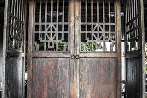 beautiful large old wooden door