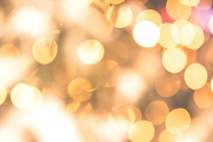 Bokeh lights glamour gold background
