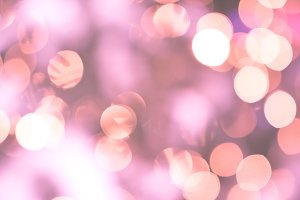 Bokeh lights glamour pink background