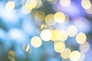 Bokeh lights pastel background
