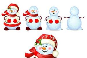 Cute snowman smiles