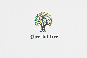 Cheerful Tree Logo Template