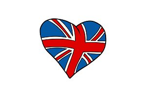 United Kingdom heart Patriotic symbol