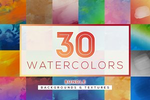 BUNDLE 30 Watercolor Textures
