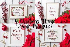 4 Frame mockups- red christmas