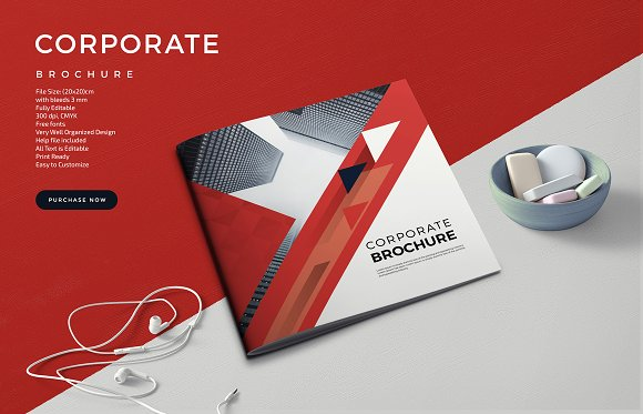 Corporate Square Brochure-Graphicriver中文最全的素材分享平台
