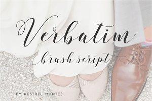 Verbatim Calligraphy Script