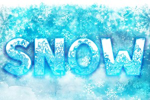 SNOW - Font Family for Christmas