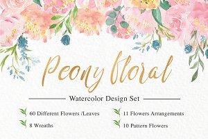 Peony Florals & Bouquets set