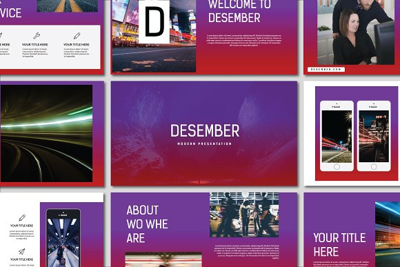 Desember Powerpoint Templat-Graphicriver中文最全的素材分享平台