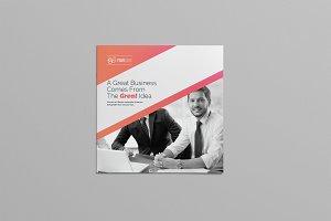 Simple Square Bi-Fold Brochure