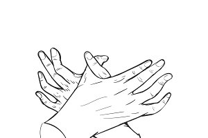 Vector of Hand drawing illustration