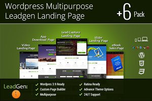 Wordpress Multipurpose Landing Page