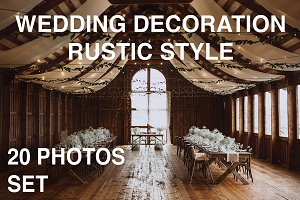 20 photos BUNDLE of wedding decor