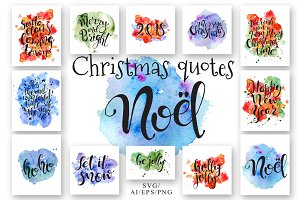 Christmas quotes. Hand lettering DIY