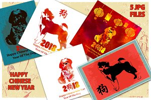 Happy Chinese New Year 2018 Cards.