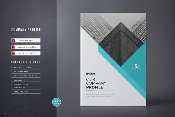 Company Profile Brochure Templates Creative Market - Company profile brochure template