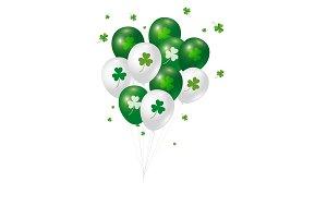 Balloon St Patricks day design