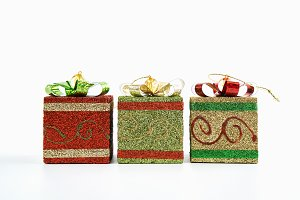 Gift box used for festive Christmas.
