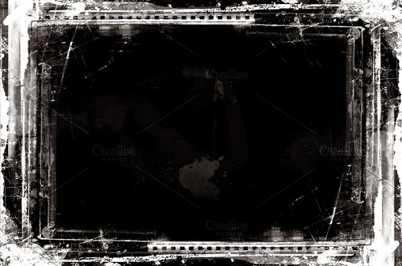 Grunge textured retro style frame - Textures