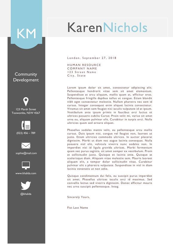 eye catching word resume design resume templates creative market