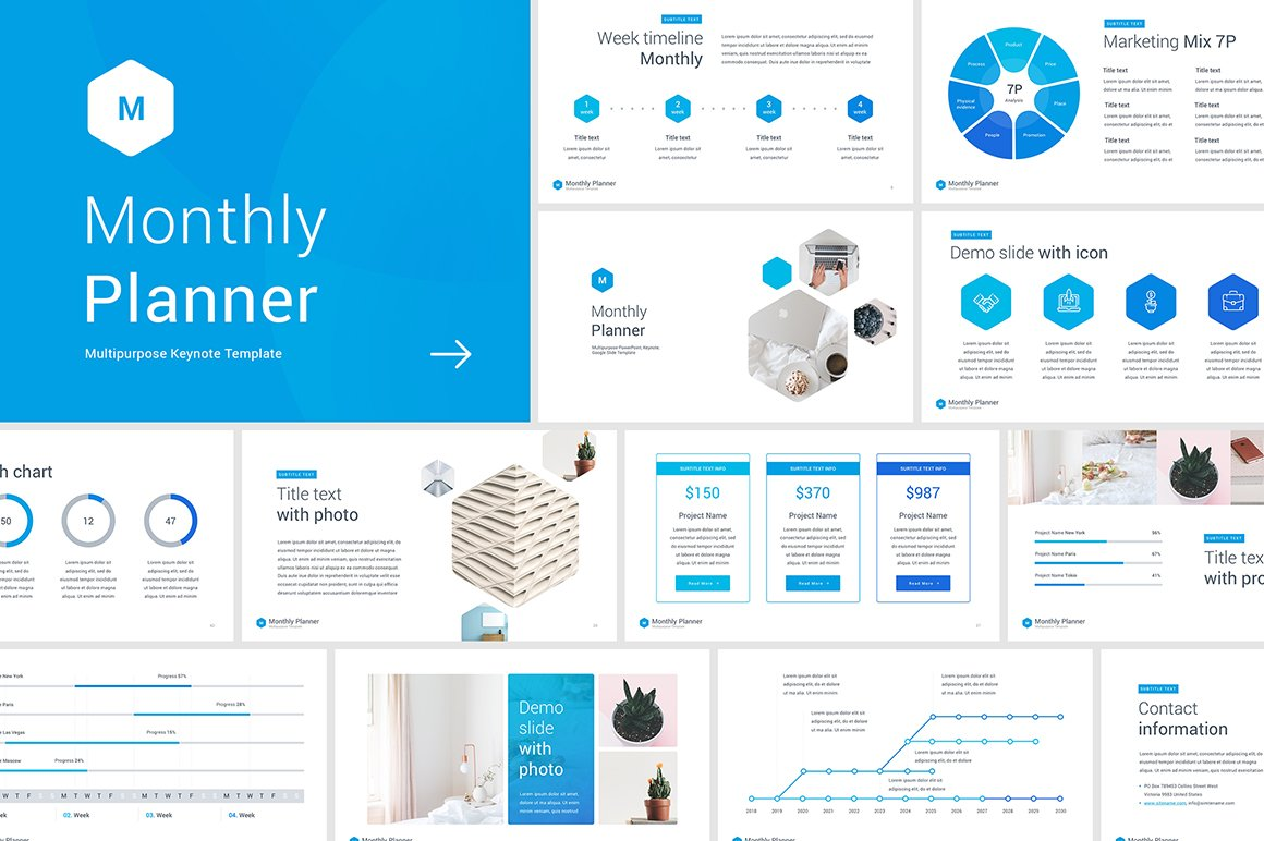 Monthly planner powerpoint template presentation templates monthly planner keynote template toneelgroepblik Image collections