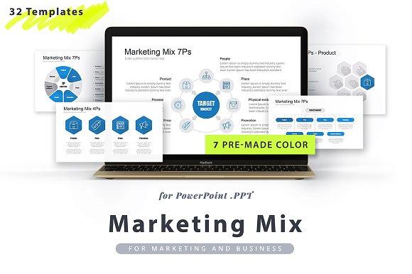 marketing mix ppt template templates creative market
