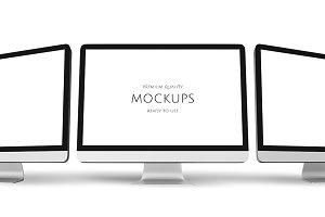 Image of computer mockup (PSD)