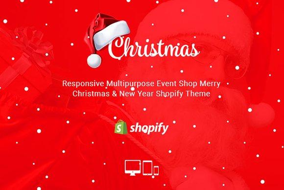 christmas responsive shopify theme themes