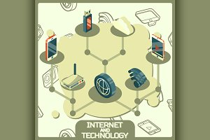 Internet and technology concept icon
