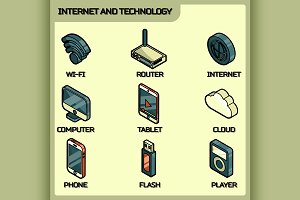 Internet and technology icons