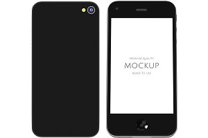 3D of mobile phone mockup (PSD)